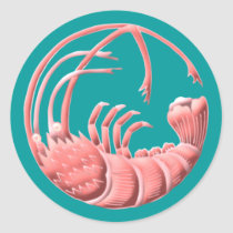 Shrimp Classic Round Sticker