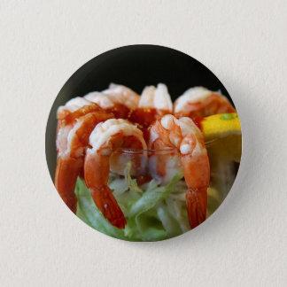 Shrimp Cocktail Lemons Lettuce Seafood Pinback Button