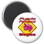 Shrimp Crossing Puerto Penasco Mexico 2 Inch Round Magnet