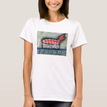 Shrimp Ebi Sushi T-Shirt by Campbell Jane