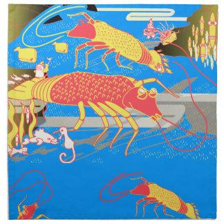 shrimp fish napkin