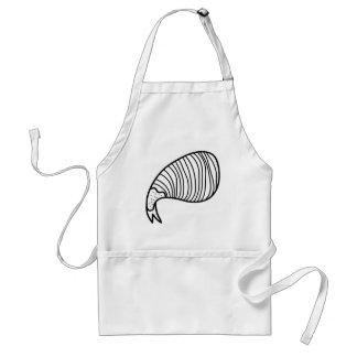 shrimp illustration adult apron