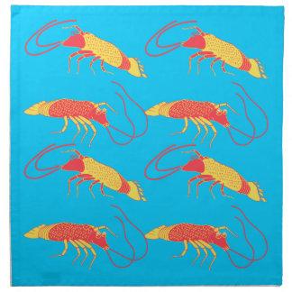shrimp in foods bucket cloth napkin