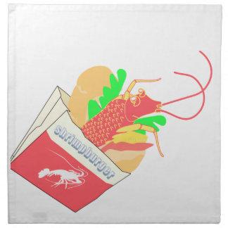 shrimp in foods bucket napkin