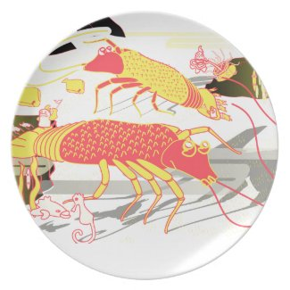 shrimp in the sea party plates