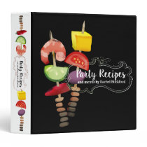 Shrimp kebab appetizers cookbook recipe binder