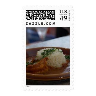Shrimp Masala Made With Jumbo Prawns Postage Stamps
