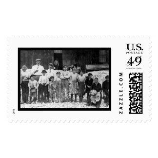 Shrimp Pickers Children 1911 Postage Stamp