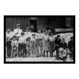 Shrimp Pickers Children 1911 Poster
