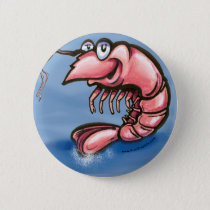 Shrimp Pinback Button