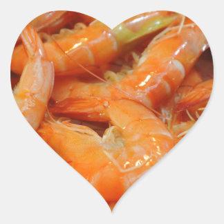 Shrimp Prawns Heart Sticker