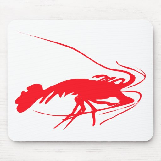 shrimp silhouette image mouse pad