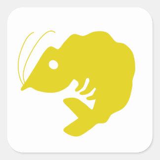 Shrimp Square Sticker