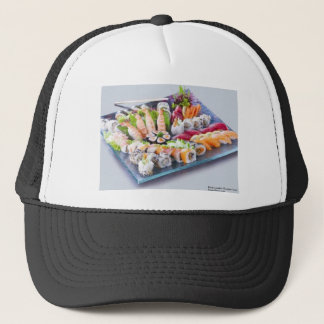 Shrimp Tuna Salmon Ca Roll Combo Gifts Mugs Etc Trucker Hat