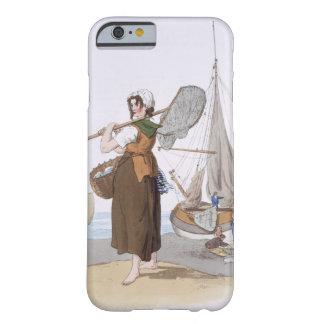 """Shrimper femenino, del """"traje de Gran Bretaña"""", Funda De iPhone 6 Barely There"""