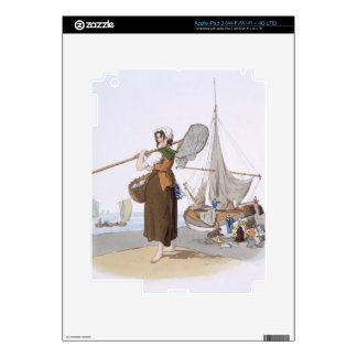 "Shrimper femenino, del ""traje de Gran Bretaña"", iPad 3 Skins"