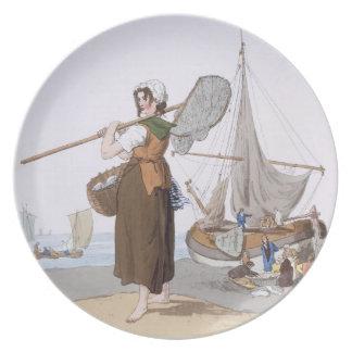 """Shrimper femenino, del """"traje de Gran Bretaña"""", Plato Para Fiesta"""