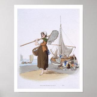 "Shrimper femenino, del ""traje de Gran Bretaña"", Póster"