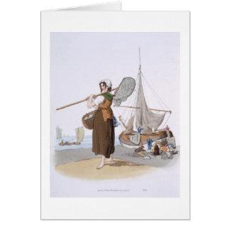 """Shrimper femenino, del """"traje de Gran Bretaña"""", Tarjeta De Felicitación"""