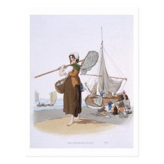 "Shrimper femenino, del ""traje de Gran Bretaña"", Tarjetas Postales"