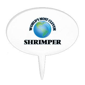 Shrimper más listo del mundo figura de tarta