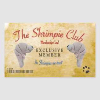 Shrimpie Club Official Rectangular Sticker
