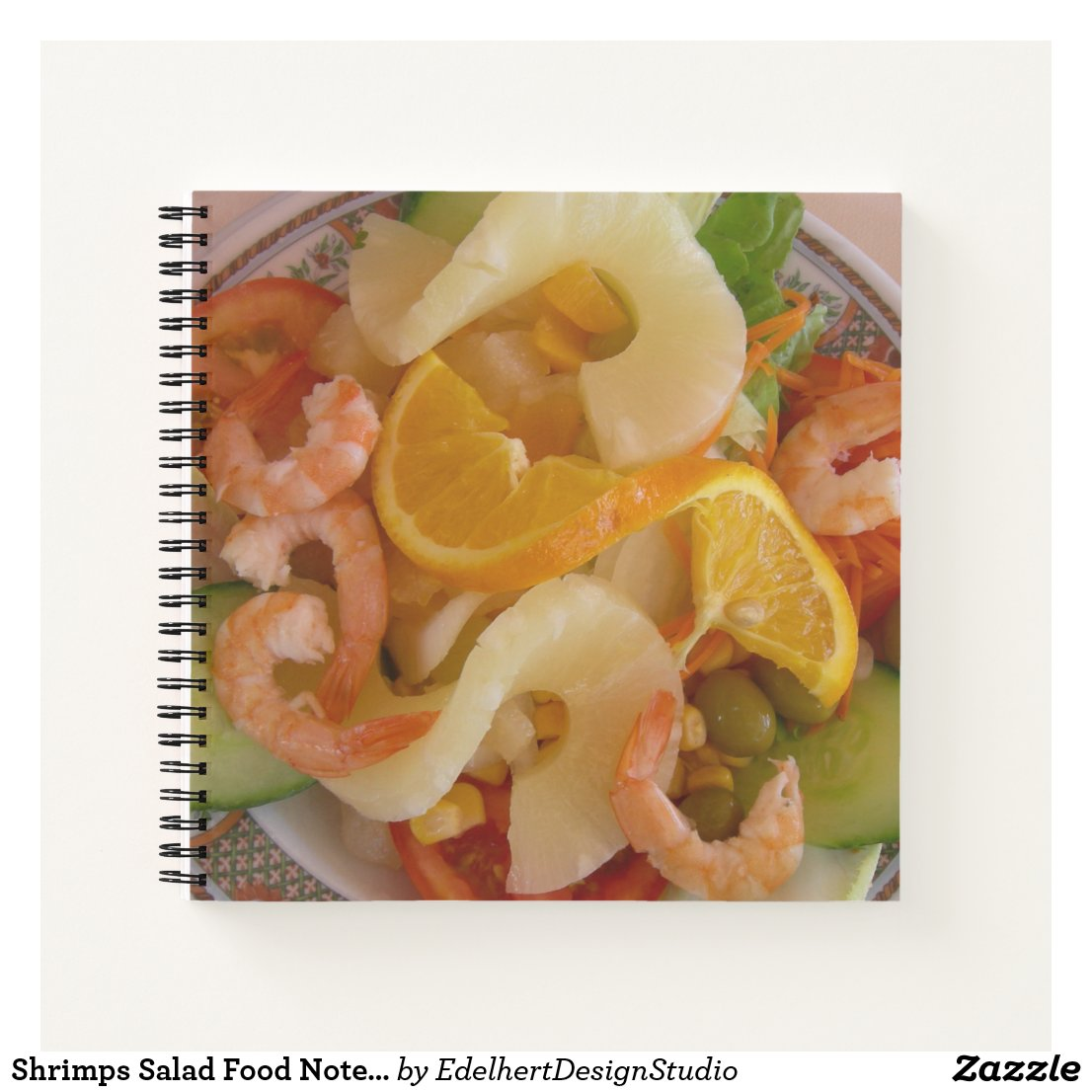 Shrimps Salad Food Notebook