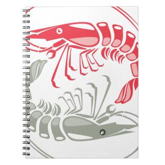 ShrimpVectorRed.pdf Spiral Notebook