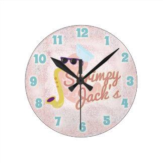 Shrimpy Jacks Round Clock