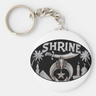 shrine basic round button keychain