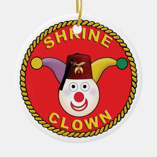 Shrine Clown Ceramic Ornament