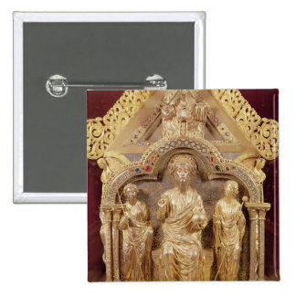 Shrine de nuestra señora de Notre-Dame de Tournai Pin Cuadrada 5 Cm
