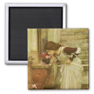 Shrine, JW Waterhouse, Vintage Victorian Portrait Magnet