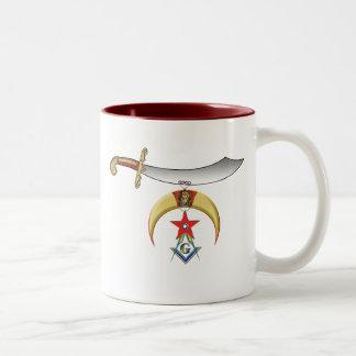 Shrine Mason Two-Tone Coffee Mug