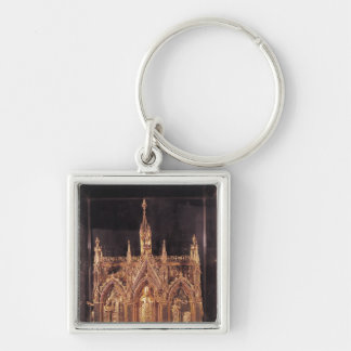Shrine of St. Taurinus, 1240-55 Silver-Colored Square Keychain