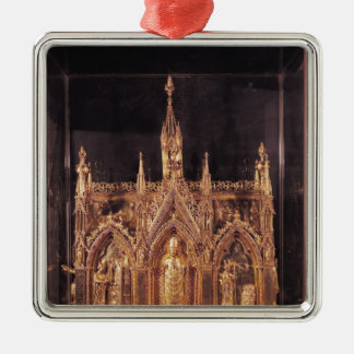 Shrine of St. Taurinus, 1240-55 Square Metal Christmas Ornament