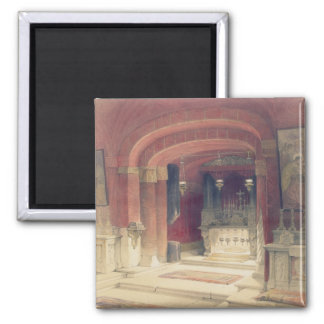Shrine of the Annunciation, Nazareth, April 20th 1 2 Inch Square Magnet