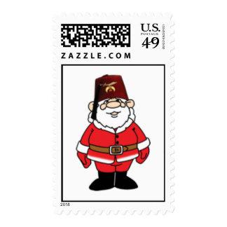 Shrine Santa Christmas Postage Stamp