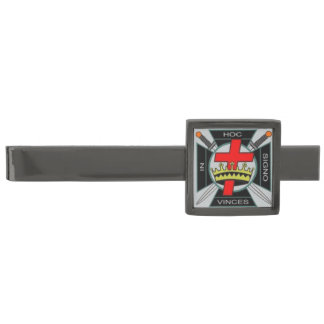 Shriner and Friends Gunmetal Finish Tie Bar