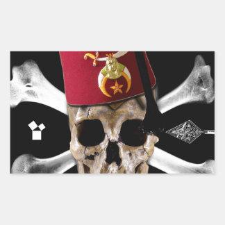 Shriner Fes inclinada cráneo masónico Rectangular Altavoz