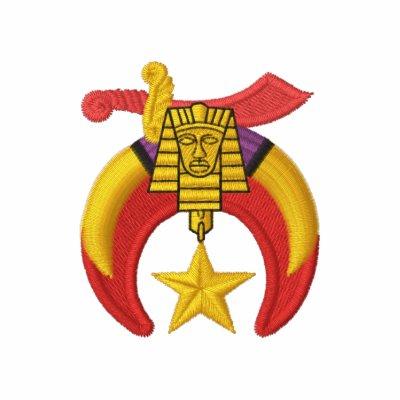 Shriner logo with personalized name embroidered polo shirt for Custom embroidered polo shirts no minimum order