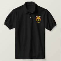 Shriner Logo with personalized name Embroidered Polo Shirt