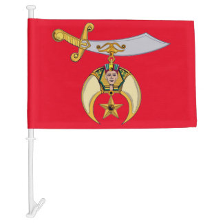SHRINERS CAR FLAG