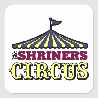 Shriners Circus Square Sticker