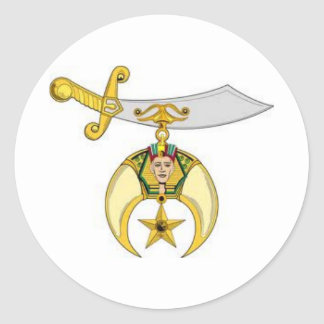 Shriners Products Classic Round Sticker