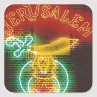 Shriners Sign Square Sticker