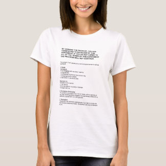 shrink-wrap girlfriend license T-Shirt