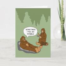 Shrink's Office Funny Sasquatch Cartoon Custom Card