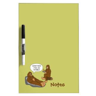 Shrink's Office Funny Sasquatch Cartoon Custom Dry-Erase Board