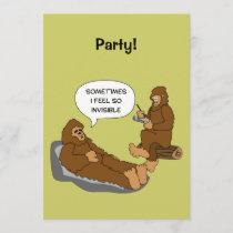 Shrink's Office Funny Sasquatch Cartoon Custom Invitation